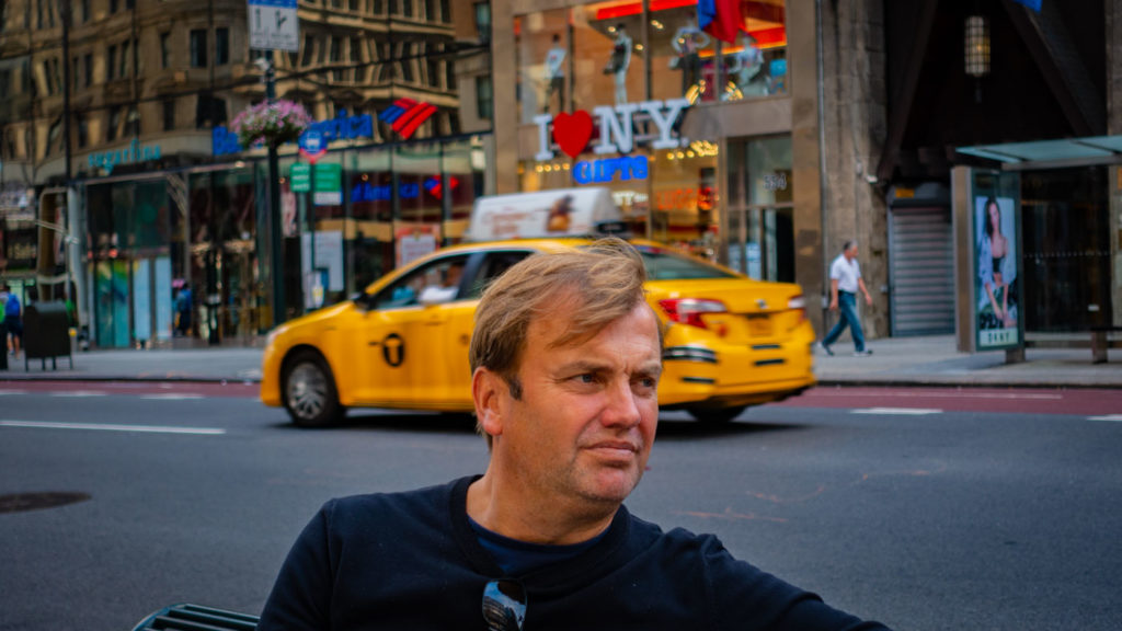 Mattias Brannholm in New York.