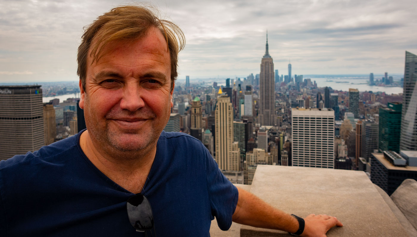Mattias Brannholm in New York City celebrating his 50th birthday.