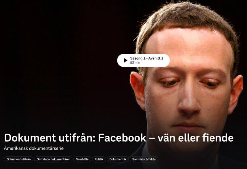 Facebook - vän eller fiende, dokumentär på SVT Play