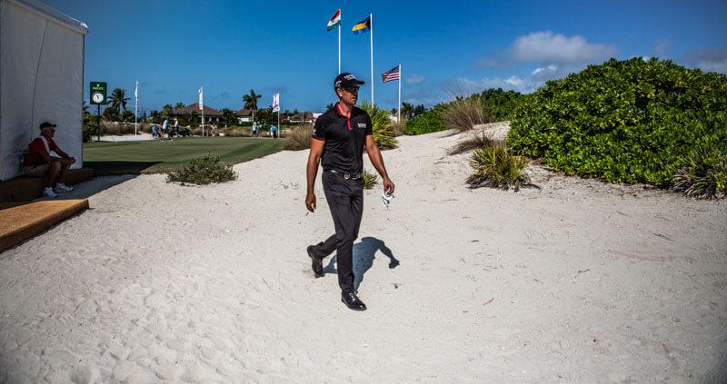 Henrik Stenson på Hero World Challenge på Bahamas 2018.